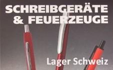 Kugelschreiber - Feuerzeuge Lager Schweiz